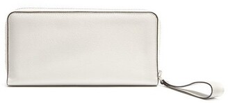 Valextra All In One Leather Travel Wallet - Mens - White