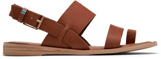 Toms Brown Leather Freya Women's Sandals