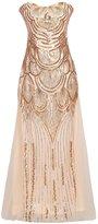 Ez-sofei Women's 1920s Gatsby Bead Sequin Flapper Masquerade Cocktail Dress (L)