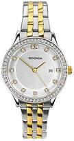 Sekonda 2388.00 Women's Date Two Tone Bracelet Strap Watch, Silver/Gold