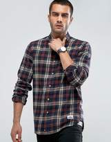 Penfield Harmon Check Shirt Buttondown Flannel Regular Fit in Gray