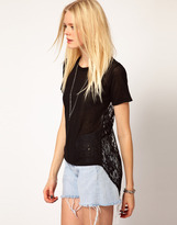 LnA T-Shirt With Lace Back