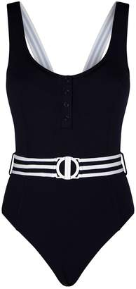 Seafolly Belted Stripe Swimsuit