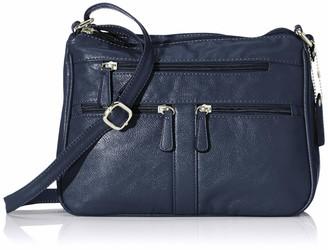 N.V. Bags Womens Nv204 Shoulder Bag Blue (Navy) 12x21x29 cm (W x H x L)
