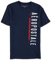 Aeropostale Mens Vertical Logo Graphic T-Shirt S