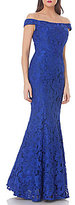 JS Collections Off-The-Shoulder Lace Mermaid Gown