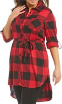 Peter Nygard Plus Plaid Duster
