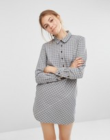 People Tree Dip Hem Chambray Shirt Dress