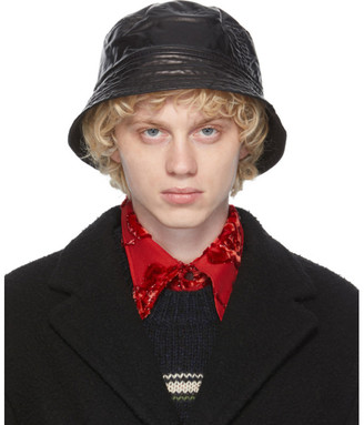 Dries Van Noten Black Quilted Bucket Hat