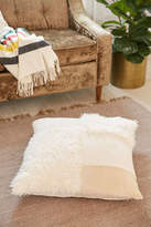 Urban Outfitters Mabel Patched Faux Fur Oversized Pillow
