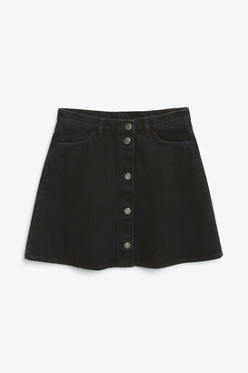 Monki Mini A-line denim skirt