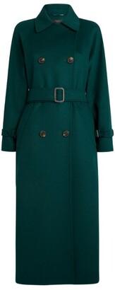 Max Mara Wool-Blend Trench Coat