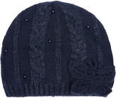 Monsoon Fleece Lined Sparkle Cable Butterfly Beanie Hat