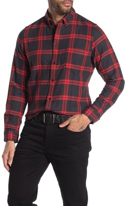 Levi's Levis Made And Crafted Plaid Long Sleeve Standard Fit Shirt