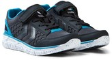 Hummel Blue and Black Total Eclipse Crosslite Jr Trainers