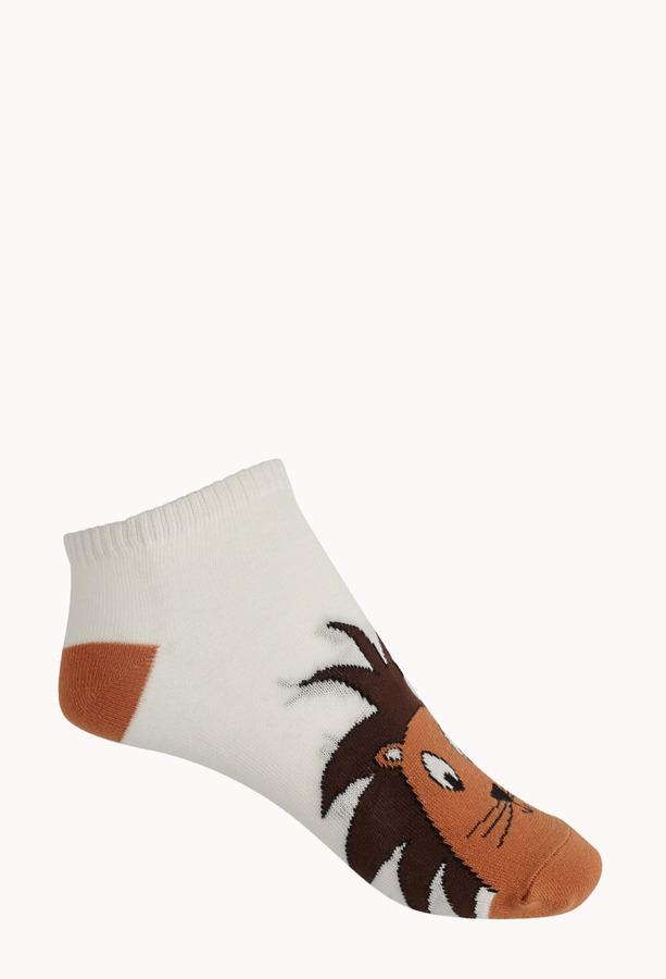 Forever 21 Lion Ankle Socks