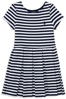Ralph Lauren Girls' Stripe Knit Dress - Little Kid
