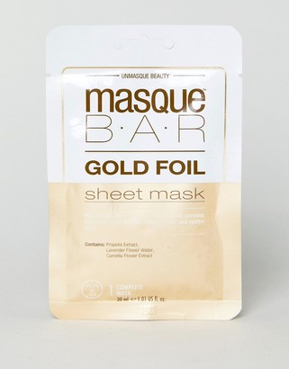MasqueBAR Gold Foil Calming Sheet Mask-No Color