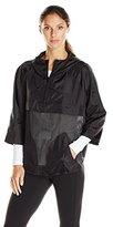 Karen Kane Women's Perforated Active Hooded Jacket