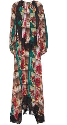 Stella McCartney Gathered Printed Silk Crepe De Chine Maxi Dress