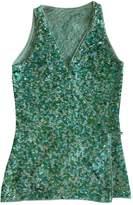 Pinko Green Glitter Top for Women