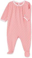 Petit Bateau Baby girls polka dot pajamas