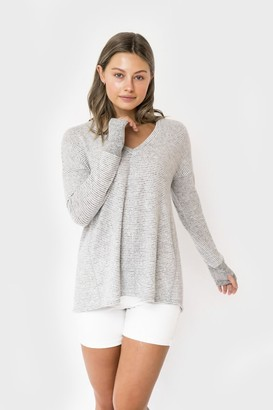 Gibson Cozy Fleece V-Neck Tunic