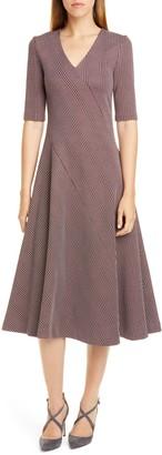 Rosetta Getty Paneled Glen Plaid Midi Dress