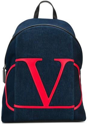 Valentino VLOGO denim backpack
