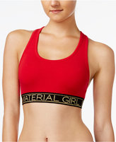 Material Girl Active Juniors' Racerback Sports Bra, Only at Macy's