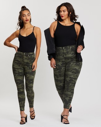 Good American Good Waist Camo Jeans