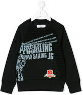 John Galliano slogan print sweatshirt