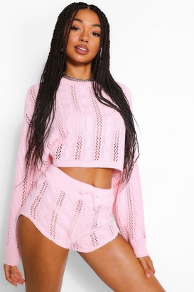 boohoo Pointelle Knitted Co-ord