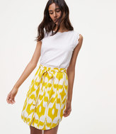 LOFT Islander Tie Waist Button Skirt