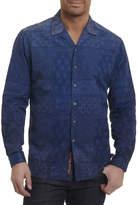 Robert Graham Blue Mountain Tiled Paisley Sport Shirt