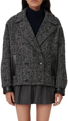 Maje Double Breasted Tweed Jacket