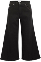 Sonia Rykiel Cropped High-rise Wide-leg Jeans - Black