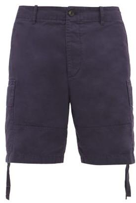 Lanvin Cotton Canvas Cargo Shorts - Mens - Navy