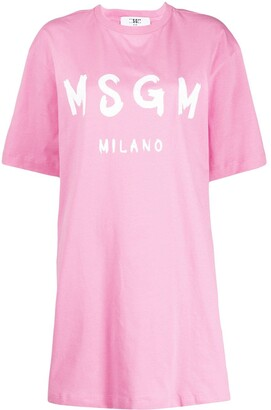 MSGM loose-fit logo T-shirt dress