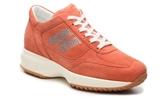 Hogan Final Sale Rhinestone Suede Lace-Up Sneaker