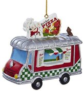 Kurt Adler Pizza Truck Resin Ornament