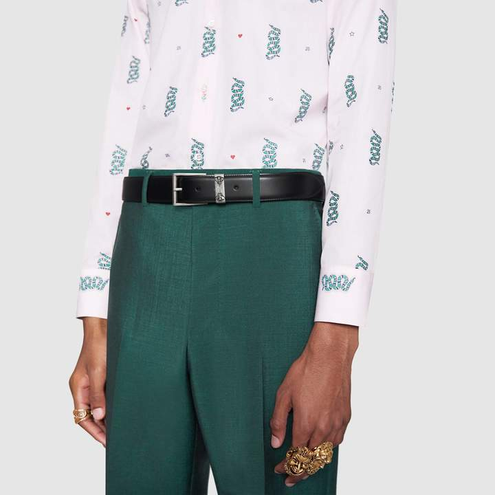 Gucci Leather belt with bees