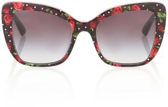 Dolce & Gabbana Floral cat-eye acetate sunglasses