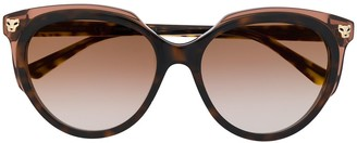 Cartier Panthere de cat-eye frame sunglasses