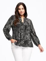 Old Navy Pintuck Plus-Size Swing Blouse