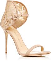 Giuseppe Zanotti Mistico Calf Leather Sandals with Lace Heel