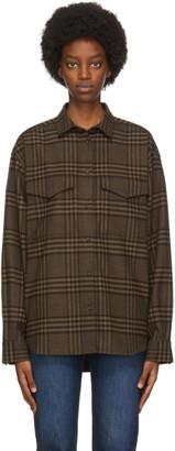Totême Brown Plaid Novella Shirt
