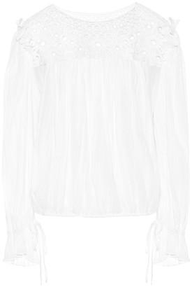 Etoile Isabel Marant Rock embroidered cotton blouse