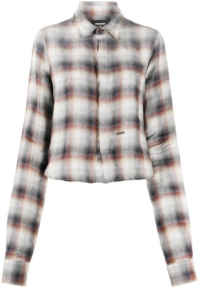 DSQUARED2 Cropped Checked Shirt