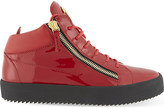 Giuseppe Zanotti Patent leather mid-top trainers